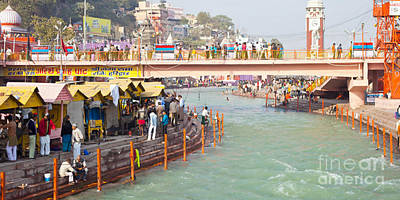 Photograph - Ganga Ganges River At Haridwar Uttranchal India Pure Sacred Spiritual Journey For Every Born Indian by Navin Joshi