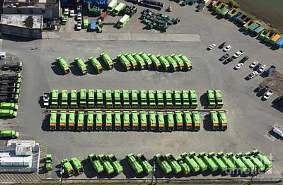 Garbage Truck Fleet Art Print by Don Mason