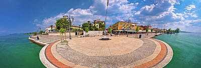 Photograph - Garda Lake Waterfront Of Lasize Panoramic View by Brch Photography