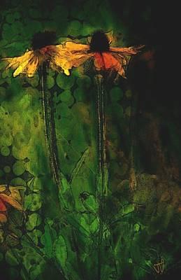 Digital Art - Garden Flowers by Jim Vance