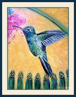 Garden-gate Hummingbird Surprise II Original by Kimberlee Baxter