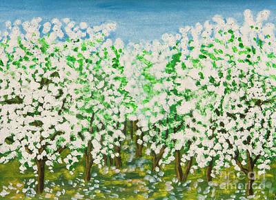 Painting - Garden In Blossom by Irina Afonskaya