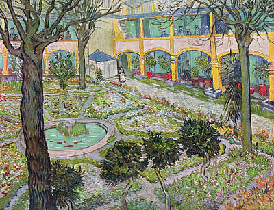 Post-impressionism Painting - Garden Of The Hospital In Arles by Vincent van Gogh
