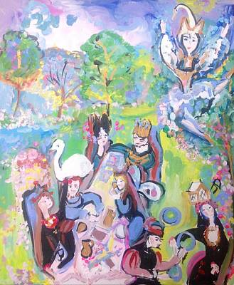 Painting - Garden Party  by Judith Desrosiers