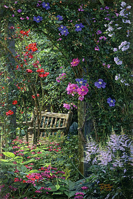Painting - Garden Respite by Doug Kreuger