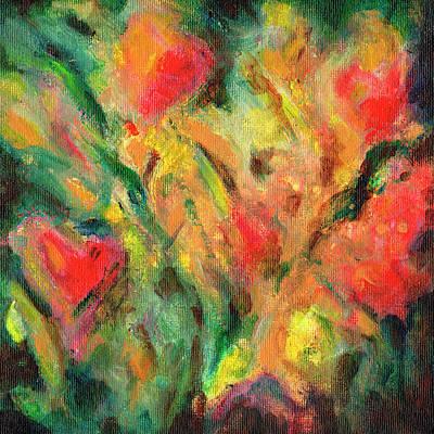 Painting - Garden Tulips by Daniel Ferguson