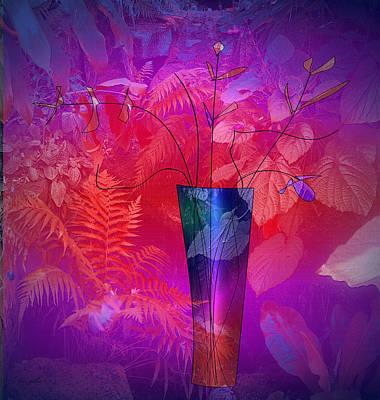 Digital Art - Garden Vase by Iris Gelbart