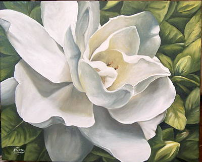 Art Print featuring the painting Gardenia by Natalia Tejera