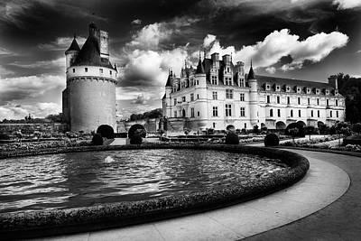 Chateau Chenonceau Photograph - Gardens, Chateau De Chenonceau, Loire Valley, France by Bruce Beck