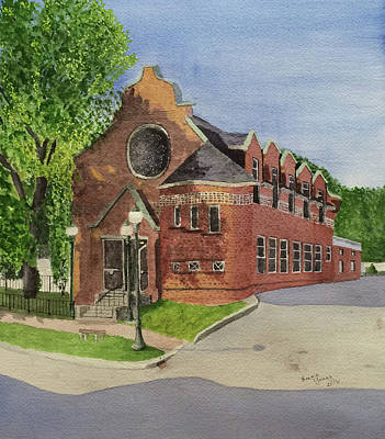Gardiner Public Library Art Print by Bonnie Young