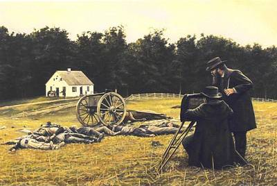 Civil Painting - Gardner At Antietam by Dan  Nance