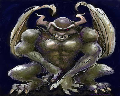 Digital Art - Gargoyle by Kevin Middleton
