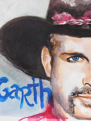 Painting - Garth Brooks  by Chrisann Ellis