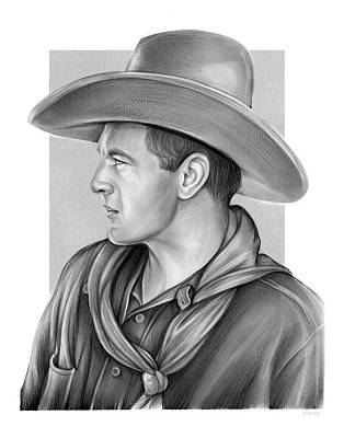 Drawing - Gary Cooper by Greg Joens