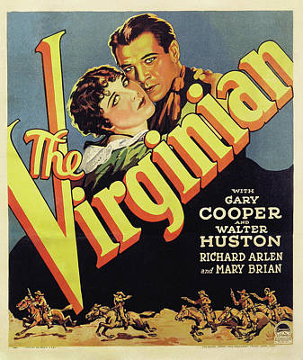 1929 Drawing - Gary Cooper In The Virginian 1929 by Mountain Dreams