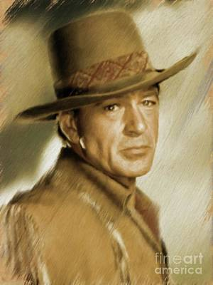 Painting - Gary Cooper, Vintage Actor by Mary Bassett