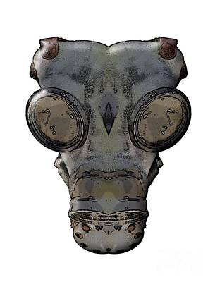Muzzle Digital Art - Gas Mask by Michal Boubin