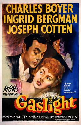 1940s Poster Art Photograph - Gaslight, Charles Boyer, Ingrid by Everett