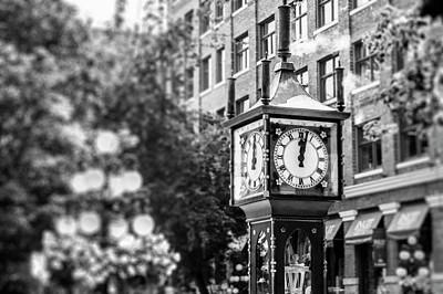 Gastown Steam Clock Art Print