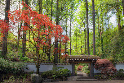 Photograph - Gateway To Portland Japanese Garden by David Gn