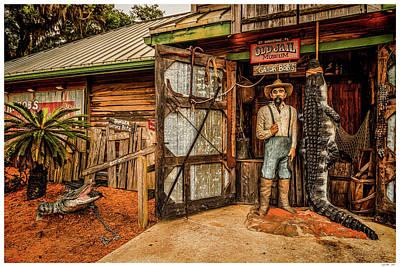 Alligator Mixed Media - Gator Bob's by Rogermike Wilson