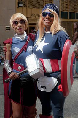 Captain America Photograph - Gay Pride Parade Nyc 2016 by Robert Ullmann