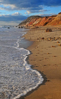 Gayhead Cliffs Marthas Vineyard Art Print by Dave Mills