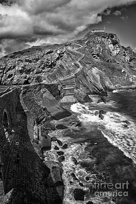 Photograph - Gaztelugatxe Dragonstone Bw by RicardMN Photography