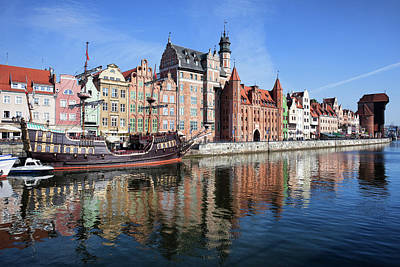 Photograph - Gdansk Old Town River View by Artur Bogacki