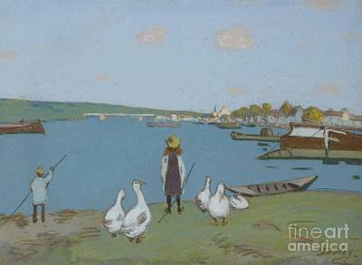 Geese Painting - Geese  by MotionAge Designs