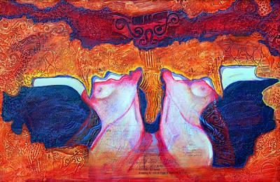 Colorfull Painting - Gemini by Claudia Fuenzalida Johns