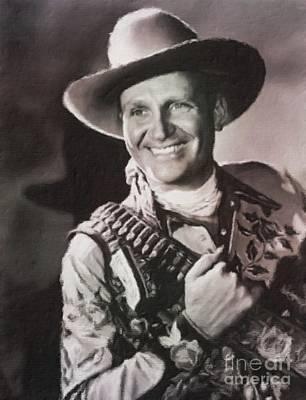Gene Autry, Western Actor And Singer Art Print