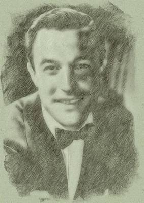 Kelly Drawing - Gene Kelly By John Springfield by John Springfield