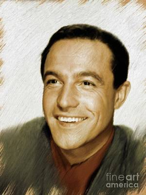 Painting - Gene Kelly, Legend by Mary Bassett