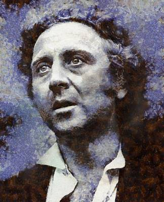 Famous Television Stars Painting - Gene Wilder Hollywood Actor by Esoterica Art Agency