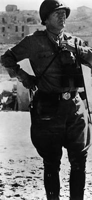 1940s Candid Photograph - General George S. Patton Jr. 1885-1945 by Everett