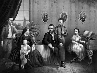 American Civil War Drawing - General Grant And His Family by War Is Hell Store