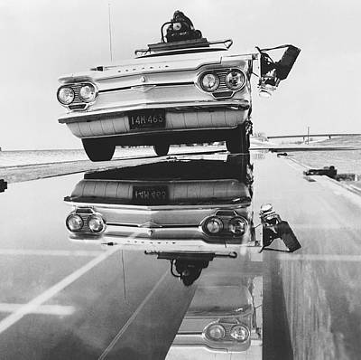 Headlamp Photograph - General Motors Proving Ground by Underwood Archives