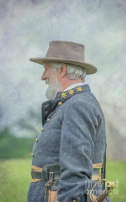 The General Lee Digital Art - General Robert E. Lee by Randy Steele