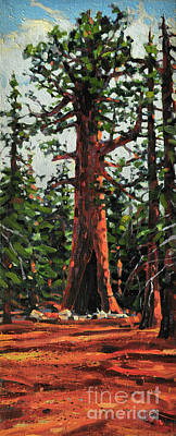 Sequoia Painting - General Sherman by Donald Maier