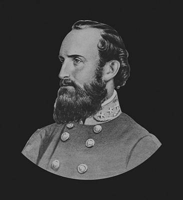Landmarks Painting Royalty Free Images - General Stonewall Jackson - Five Royalty-Free Image by War Is Hell Store