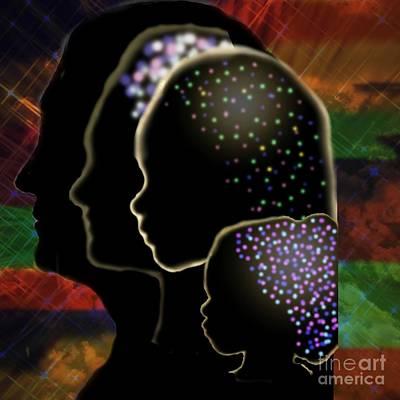 Digital Art - Generations by Diamante Lavendar