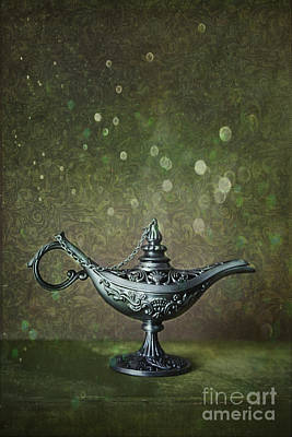 Photograph - Genie Lamp On Old Book by Sandra Cunningham