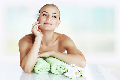 Photograph - Gentle Girl At Spa Salon by Anna Om