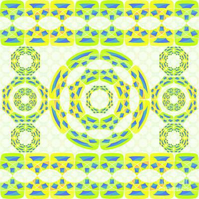 Colorful Quilts Digital Art - Geometric Composition by Gaspar Avila