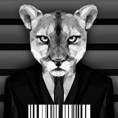 Geometric Puma Art Print