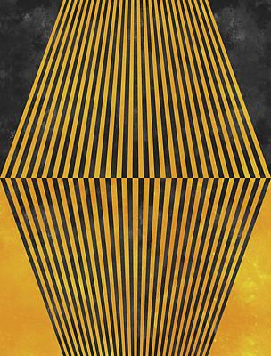 Calavera Digital Art - Geometric Soul Mates by Francisco Valle