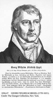 Georg Wilhelm Hegel Art Print by Granger