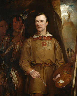 William Fisk Painting - George Catlin by William Fisk