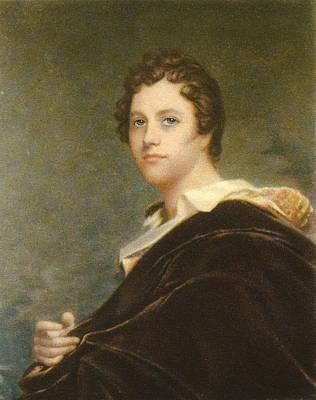 Lord Drawing - George Gordon Byron, 6th Baron Byron by Vintage Design Pics